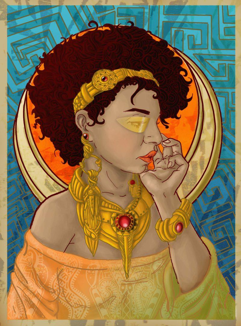 Ilustração Afro Futurismo - Retratos Negros